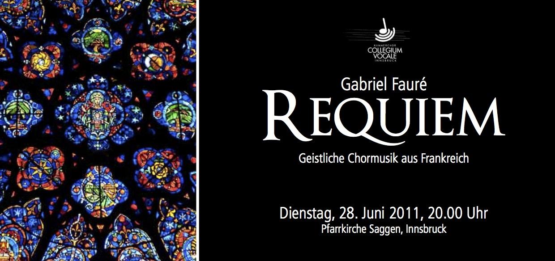Einladung Fauré-Requiem